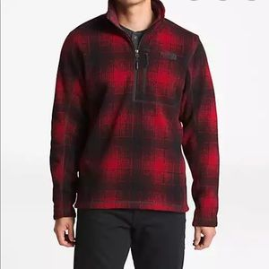 The North Face Novelty Gordon Lyons 1/4 Red Plaid
